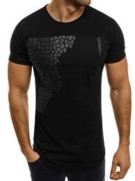 Breezy Bavlněné černé pánské tričko BREEZY 380