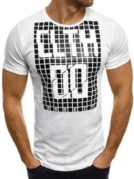 Breezy CLTH DO bílé pánské moderní tričko BREEZY 373