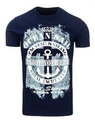 OCEAN SAIL modré tričko s krátkým rukávem