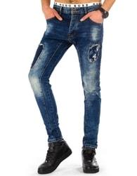 Krásné moderní modré pánské džíny