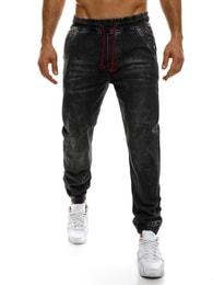 Redpolo Módní pánské černé baggy kalhoty RED POLO 685