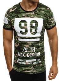 Madmext Unikátní pánské zelené maskáčové tričko MADMEXT 1896