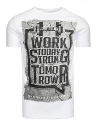 Bavlněné moderní pánské bílé tričko