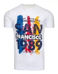 Bílé moderní pánské tričko SAN FRANCISCO