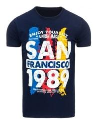 Tmavě modré pohodlné pánské tričko SAN FRANCISCO