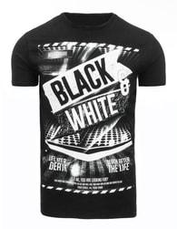 Fantastické černé pánské tričko - XXL