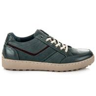 NEW AGE Sportovní pánské kožené modré boty - 42