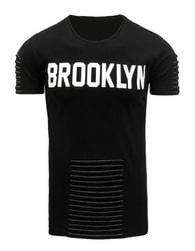 Pohodlné černé pánské tričko BROOKLYN - XXL