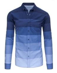 Nádherná moderní tmavě modrá SLIM FIT košile