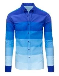 Moderní modrá melírovaná SLIM FIT košile