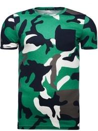 Athletic Trendy zelené pánské maskáčové tričko ATHLETIC 1026
