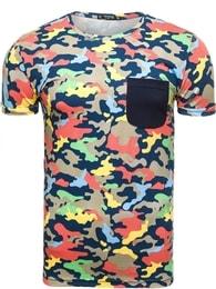 Athletic Originální pánské barevné maskáčové tričko ATHLETIC 1026