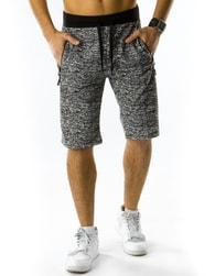 Tmavě-šedé pánské kraťasy - XL