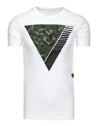 Bílé moderní pánské tričko s potiskem - XXL