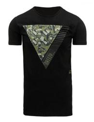 Pánské originální černé tričko s potiskem - XXL