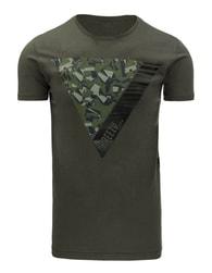 Zelené pánské moderní tričko s potiskem - XXL