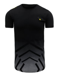 Černé moderní pánské tričko s potiskem - S