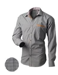 Victorio Černo-bílá pánská košile - XL