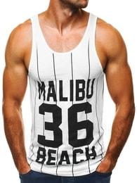 Breezy Malibu beach bílé moderní pánské tílko BREEZY 9076