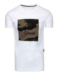 Bílé moderní pánské tričko ALL YOURS - XL