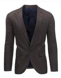 Hnědé moderní pánské elegantní sako