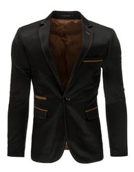 Módní semišové pánské sako černé