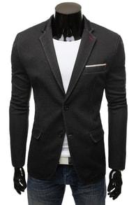Černé stylové pánské sako 8400