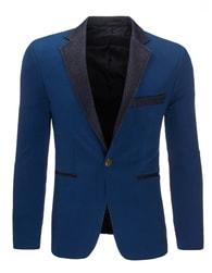 Modré pánské elegantní sako