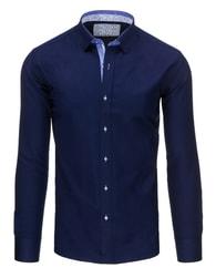 Granátová moderní SLIM FIT pánská košile