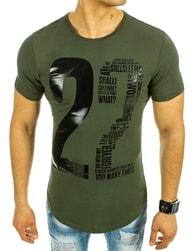 Trendy zelené pánské tričko 22
