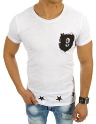 Atraktivní pánské bílé tričko