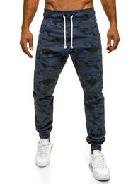 Athletic Tmavě modré pohodlné maskáčové joggery ATHLETIC 367
