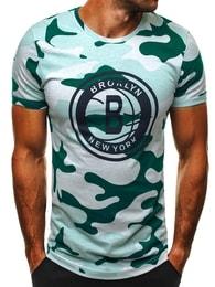 Athletic Stylové maskáčové pánské zelené tričko ATHLETIC 1030