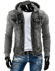 Originální šedá džínová bunda
