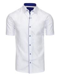Elegantní pánská bílá košile s modrým lemem