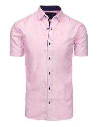 Růžová pohodlná pánská SLIM FIT košile
