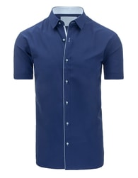 Moderní pohodlná pánská modrá košile