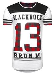 Black Rock Stylové bílé pánské prodloužené tričko BLACK ROCK 512062