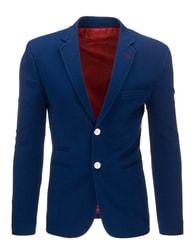 Pánské sako nebesky modré barvy