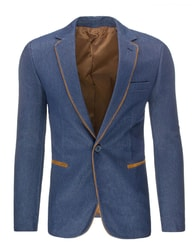 Ležérní pánské tmavě modré sako