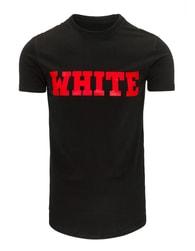 Moderní černé pánské tričko s potiskem - XXL