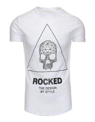 Jedinečné bílé pánské tričko s potiskem - XXL