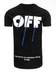 Originální černé tričko s potiskem OFF - XXL