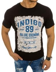Černé pánské tričko s potiskem INDIGO - XXL