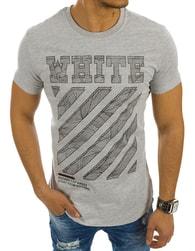 Sportovní pánské šedé tričko WHITE