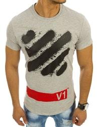 Moderní šedé tričko s potiskem