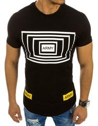 Moderní pánské tričko ARMY černé - XXL