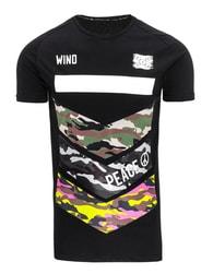 Sportovní pánské černé tričko PEACE