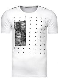 Bílé triko s originálním potiskem Athletic 9024