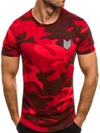 Breezy Červené maskáčové tričko s nášivkou BREEZY 708